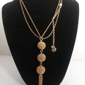 3-Ball Gold-Tone  Chico Necklace 32'